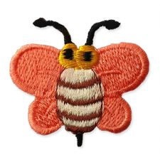 ORANGE BUMBLE BEE MOTIF IRON ON EMBROIDERED PATCH APPLIQUE